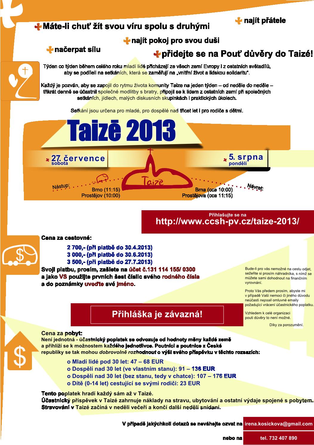 plakát Taize 2013